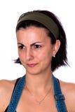 Junge verärgerte schöne Brunettefrau lizenzfreie stockfotos