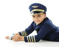 Junge wünschen - seien Sie Pilot Lizenzfreies Stockfoto