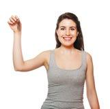 Junge weibliche Holdingtasten Stockbilder