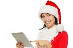 Junge Weihnachtsfrau Stockbild