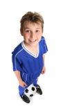 Junge wth Fußballkugel Stockbilder