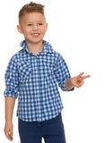 Junge zeigt seine Hände Stockbilder