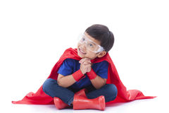 Junge, zum ein Superheld zu sein Lizenzfreies Stockbild