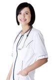 Jungekrankenschwester oder Fraudoktor lizenzfreies stockfoto