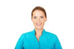 Jungelächelnärztin oder -krankenschwester lizenzfreies stockbild