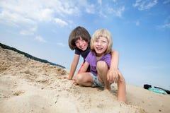Jungen auf Ferien Lizenzfreies Stockfoto