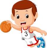 Jungen, die Basketball-Sport spielen stock abbildung