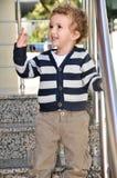 Jungen-Gesichtsausdruck mit 3-Jährigen Lizenzfreie Stockfotografie