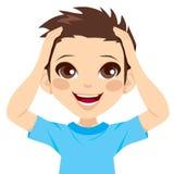 Jungen-glückliches überrascht Lizenzfreie Stockfotografie