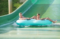 Jungen im aquapark Stockfoto