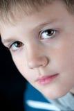 Jungen-Nahaufnahmeporträt Stockbilder