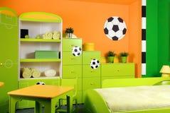Jungen-Schlafzimmer. Stockfoto