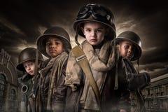 Jungen-Soldaten Stockfotos