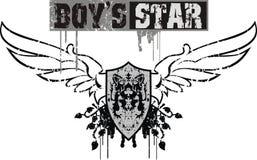 Jungen-Stern Stockbild