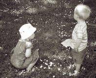 Jungen- und Mädchenkinder Stockfoto