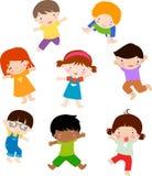 Jungen- und Mädchenspielen Stockfoto