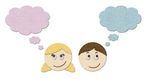 Jungen- und Mädchenträumen vektor abbildung