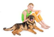 Jungen- und Welpenschäferhunde lizenzfreies stockbild
