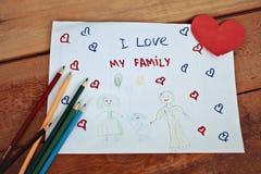 Jungenabbildung und -zeichnung des Kindes drawing Lizenzfreie Stockfotos