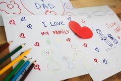 Jungenabbildung und -zeichnung des Kindes drawing Stockbilder