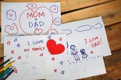 Jungenabbildung und -zeichnung des Kindes drawing Lizenzfreie Stockfotografie