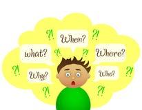 Jungenfrage Nette Studie stock abbildung