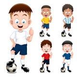 Jungenfußballspieler Stockfoto