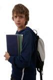Jungenholding Bücher Lizenzfreies Stockbild