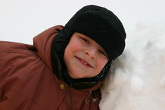 Jungenlächeln Stockfotografie