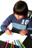 Jungenmalerei stockfotografie