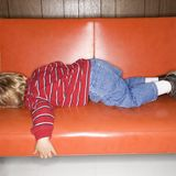Jungenschlafen. Stockfotos