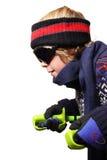 Jungenskifahren Lizenzfreie Stockfotos