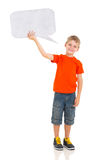 Jungentextblase Lizenzfreies Stockfoto