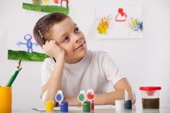Jungenzeichnung Stockbilder