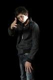 Jungenzeigen lizenzfreies stockfoto