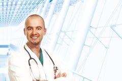 Junger überzeugter Doktor lizenzfreies stockbild