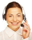 Junger überzeugter Geschäftsfraubediener Stockfoto