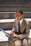 Junger überzeugter Geschäftsmann Lizenzfreies Stockbild