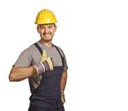 Junger überzeugter Heimwerker stockbild