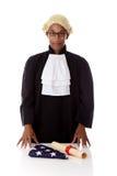 Junger Afrikaner. Amerikanischer Richtermann. Stockbilder