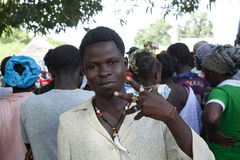 Junger afrikanischer Mann Stockfotografie