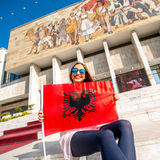 Junger albanischer Patriot Lizenzfreies Stockbild