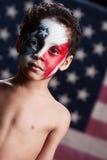 Junger amerikanischer Patriot Stockbild