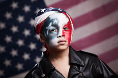 Junger amerikanischer Patriot Stockfotos