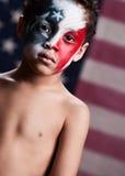 Junger amerikanischer Patriot Stockbilder