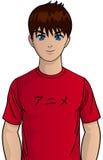 Junger Anime jugendlich Lizenzfreie Stockfotografie