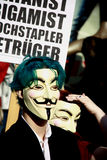 Junger anonymer Aktivist an der Sammlung Lizenzfreie Stockfotos
