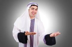 Junger arabischer Mann lokalisiert Stockfotos