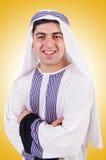 Junger arabischer Mann lokalisiert Lizenzfreies Stockfoto