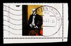 ` Junger Argentinier ` door Max Beckmann, het Duitse Schilderen van de 20ste Eeuw serie, circa 2003 Royalty-vrije Stock Fotografie